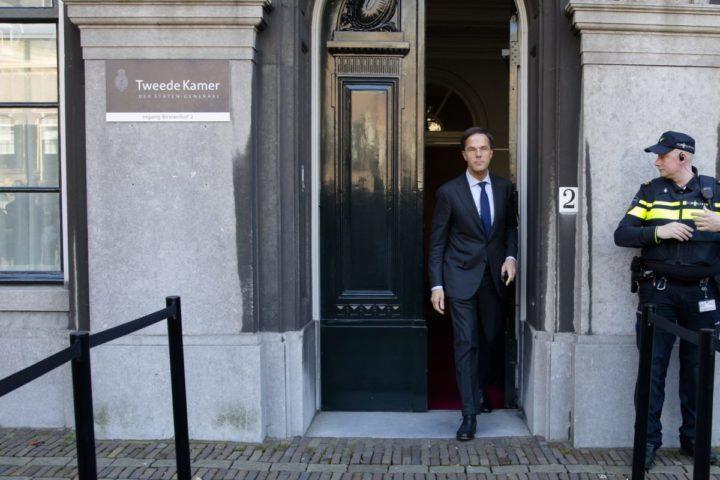 2017-03-23 11:34:01 DEN HAAG - Fractievoorzitter Mark Rutte (VVD) na afloop van een gesprek met Edith Schippers. Verkenner Schippers spreekt met alle dertien fractievoorzitters over mogelijke regeringscoalities. ANP BART MAAT