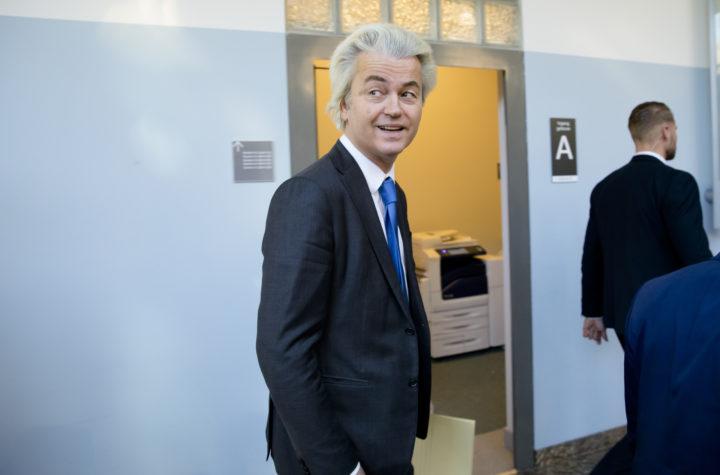 2017-03-22 09:52:06 DEN HAAG - Verkenner Edith Schippers ontvangt PVV-leider Geert Wilders. Schippers bekijkt welke opties er zijn voor een nieuw kabinet. ANP BART MAAT