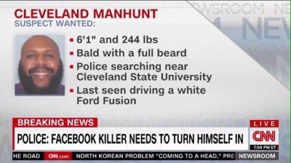 Politie-omschrijving van Stevens - Bron: CNN
