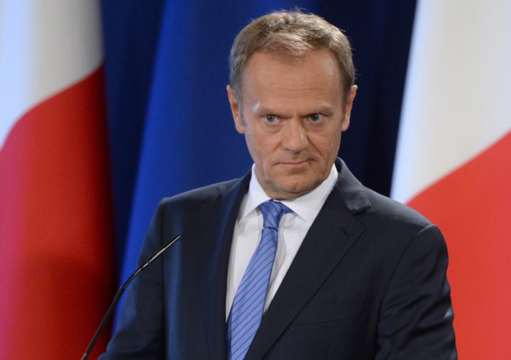 "2017-03-31 10:58:31 The President of the European Council Donald Tusk speaks during a press conference on March 31, 2017 in St Julian's Malta. The European Union demanded that Britain make ""sufficient progress"" on its divorce before talks on a trade deal can start as it laid out its tough Brexit negotiating plans today. / AFP PHOTO / Matthew Mirabelli / Malta OUT"