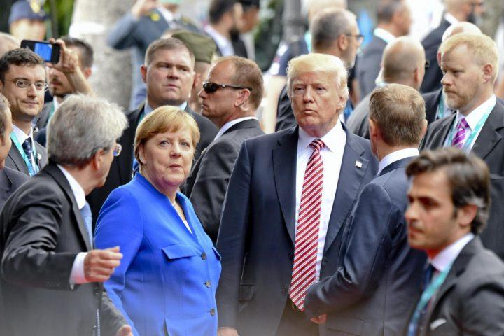 Trump en Merkel ontmoeten elkaar op de G7-top op Sicilië