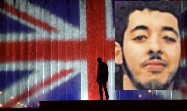 2017-05-23 22:56:04 A man stands in front of a fountain illuminated with the colours of the United Kingdom flag on May 23, 2017, in Zagreb, during a tribute to victims of an attacks claimed by Islamic State which killed at least 22 people and left more than 60 injured in Manchester the day before. Twenty two people have been killed and dozens injured in Britain's deadliest terror attack in over a decade after a suspected suicide bomber targeted fans leaving a concert of US singer Ariana Grande in Manchester. British police on May 23 named the suspected attacker behind the Manchester concert bombing as Salman Abedi, but declined to give any further details. / AFP PHOTO / STRINGER