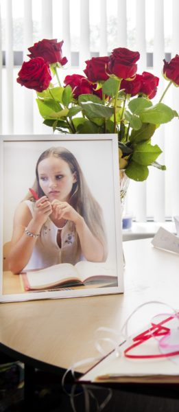 2017-06-06 10:59:35 DE GLIND - De stiltekamer in de J.H. Donnerschool na een persconferentie over het overlijden van Romy Nieuwburg. Het veertienjarige meisje, leerling van de J.H. Donnerschool, werd dood gevonden in een sloot op een landgoed in de plaats Achterveld. ANP PIROSCHKA VAN DE WOUW