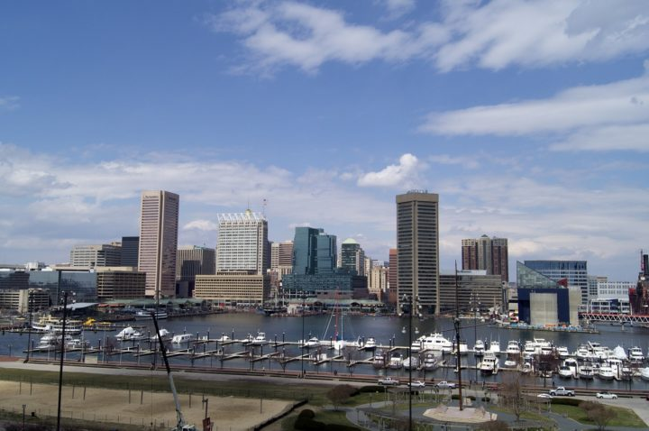 Harbor Baltimore Urban Downtown Maryland City