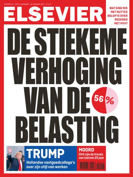 Elsevier Weekblad. Verhoging belasting. Marginaal belastingtarief