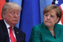 Merkel tikt Trump op de vingers: oorlogstaal 'totaal ongepast'