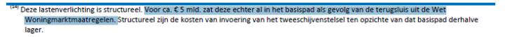 Hypotheekrenteaftrek beperken, teruggave burger, regeerakkoord Rutte III