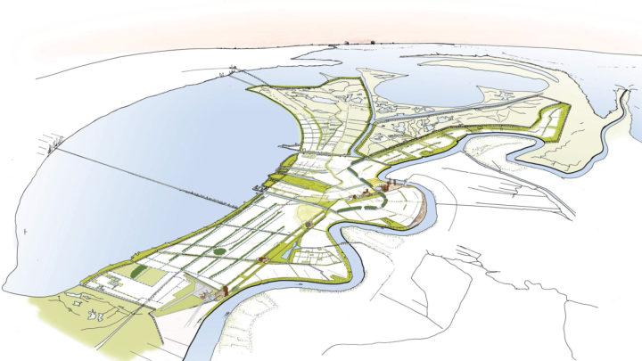 Schets van het eindresultaat van het New Orleans Urban Water Plan