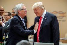 Juncker en Trump vieren staakt-het-vuren als winst
