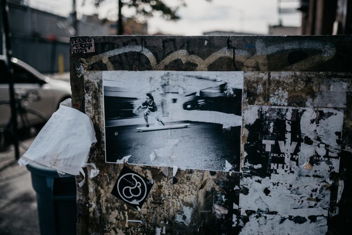 Kunst? Foto op een muurtje