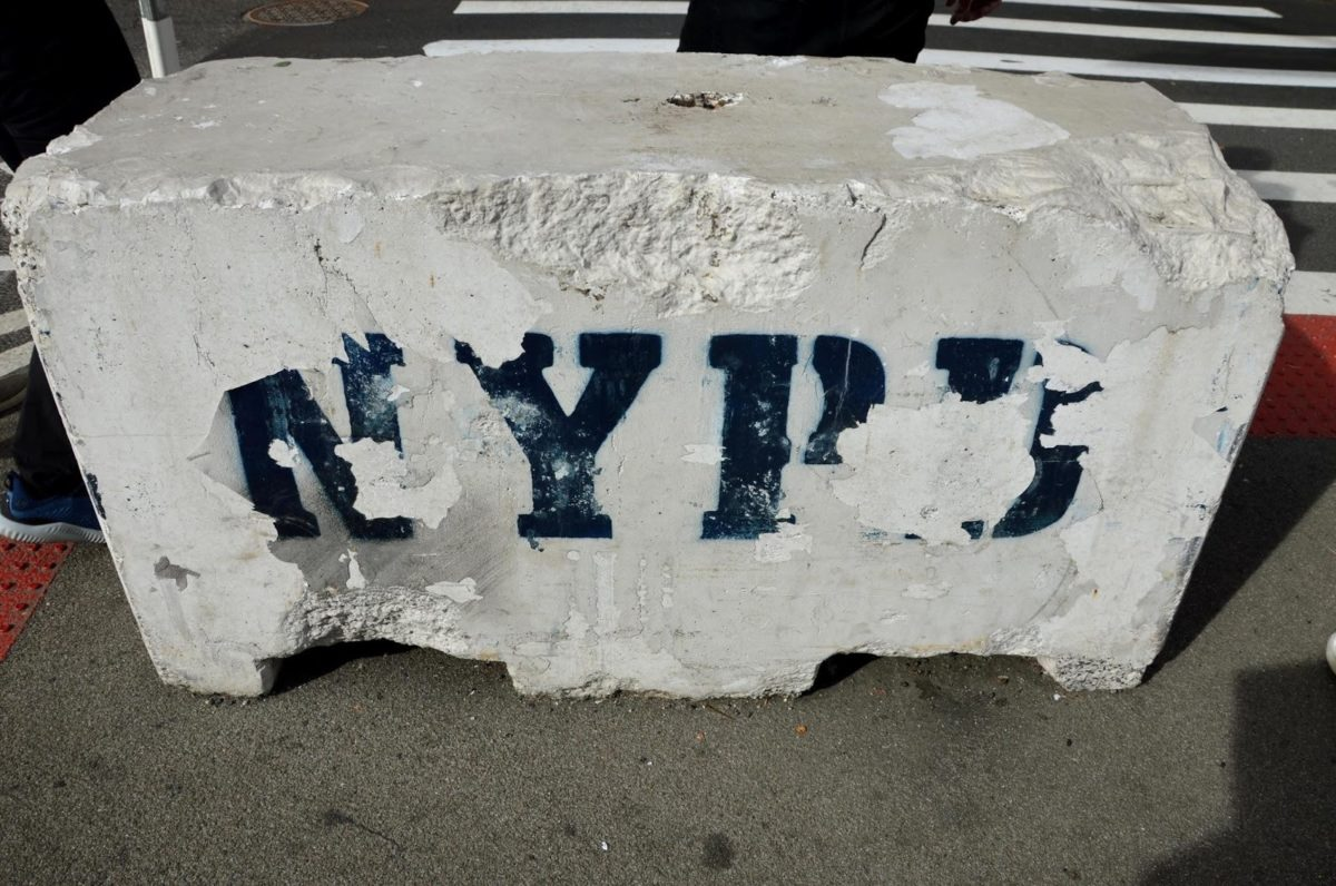 Betonblok van de stad New York