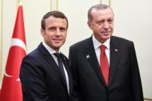 Erdogan en Macron slaan handen ineen tegen Trump