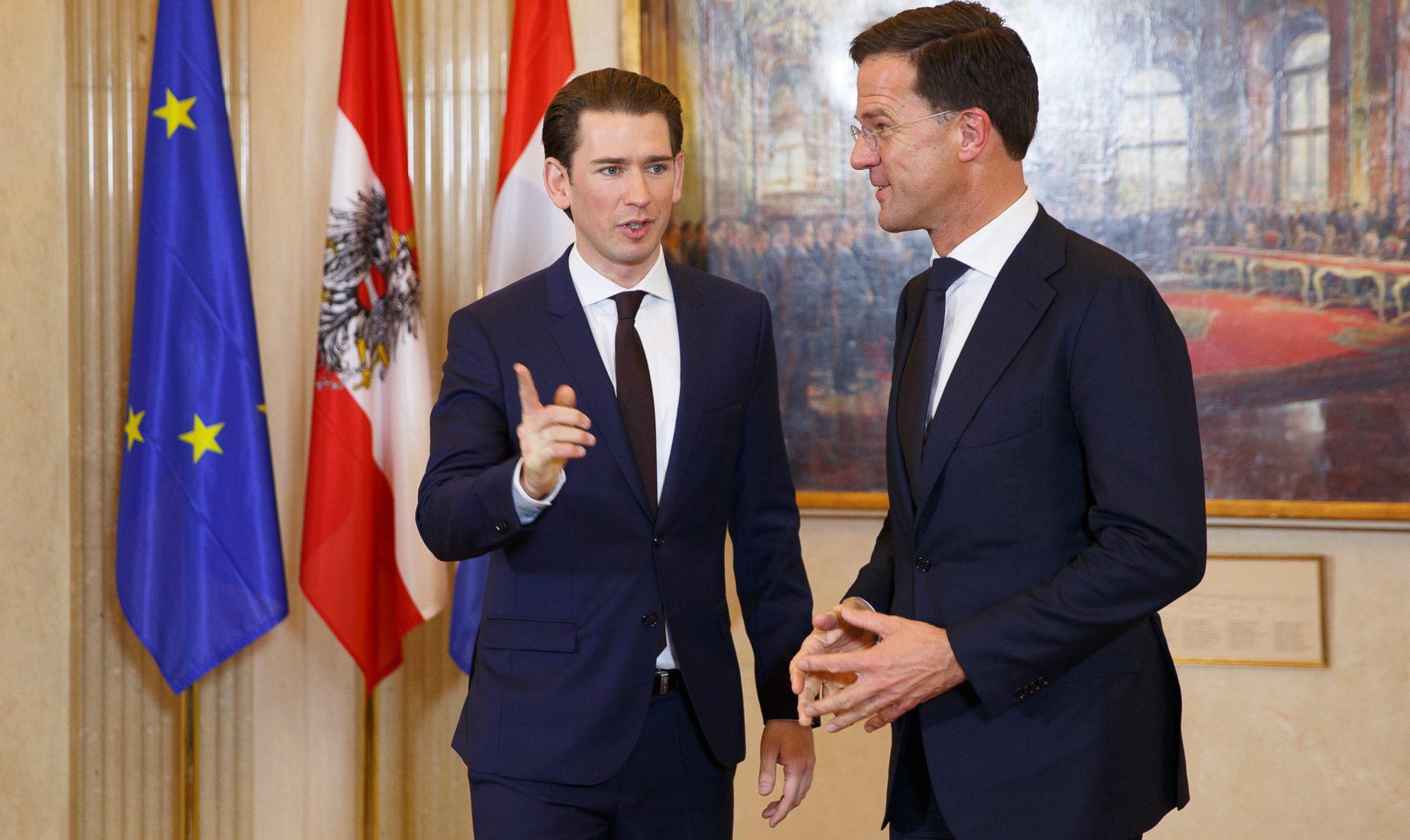 Mark Rutte 'op één lijn' met Oostenrijkse Sebastian Kurz over Europa