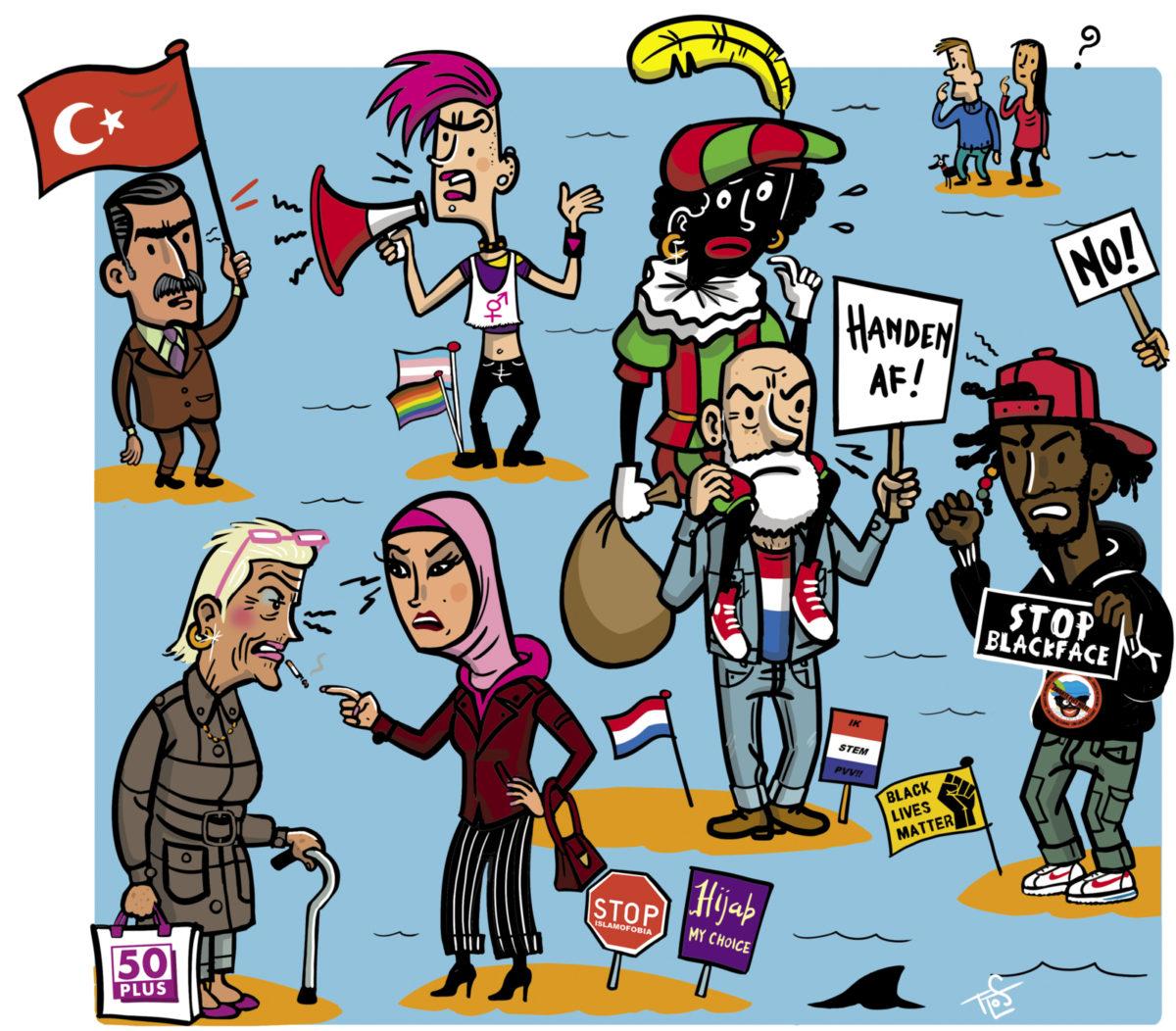 <b>Identiteitspolitiek</b>: iedereen boos en gekrenkt