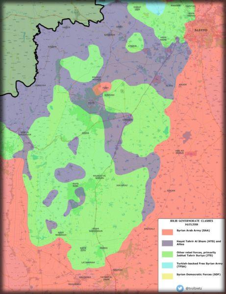 Kaart Idlib