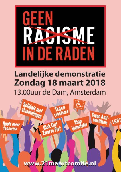 Poster antiracismedemonstratie