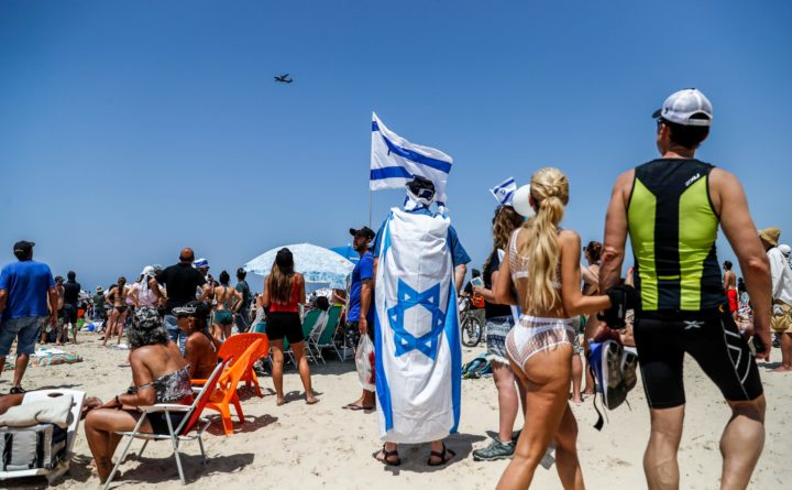 Viering van de zeventigste Onafhankelijkheidsdag op 19 april 2018 in Tel Aviv