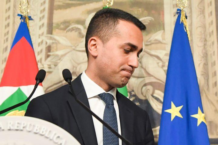 Vijfsterrenbewegingleider Luigi di Maio