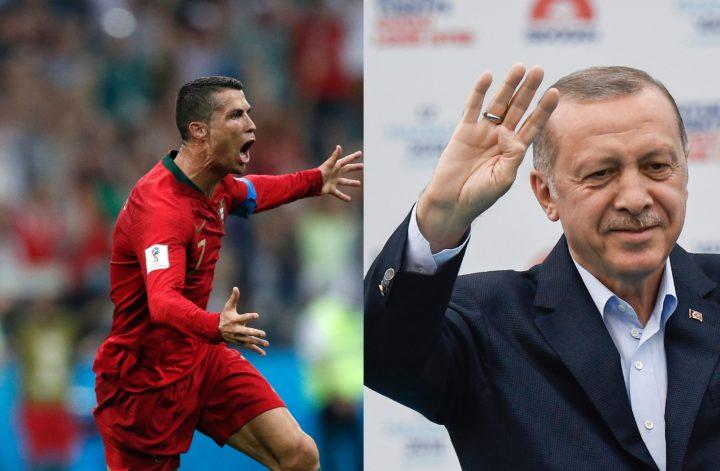 Ronaldo en Erdogan