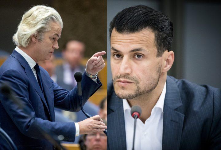 Wilders (links) en Azarkan van DENK. Foto's: ANP.