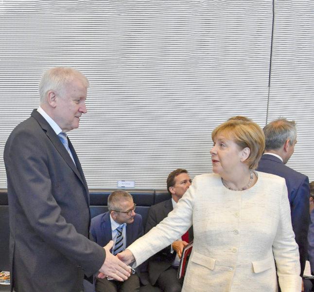 Merkel en Seehofer