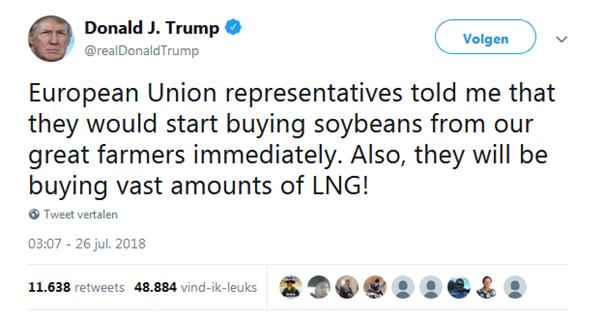 Tweet van Trump