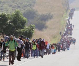 De karavaan: migranten uit Centraal-Amerika onderweg naar de Verenigde Staten, 13 november 2018