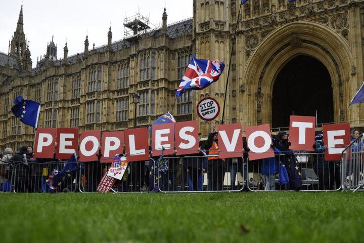 Antibrexit-betogers voor het Lagerhuis
