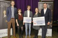 Uitreiking Elsevier Weekblad/Johan de Witt-scriptieprijs