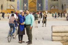 Haram op de fiets in Isfahan