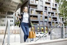 Zijn inwoners stad te verleiden om naar het werk te lopen?