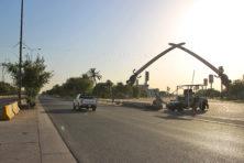Bronzen knuisten Saddam resultaat polderen in Irak