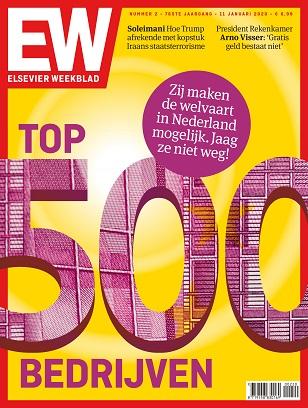 Cover Elsevier Weekblad editie 2 2020. Top 500 bedrijven