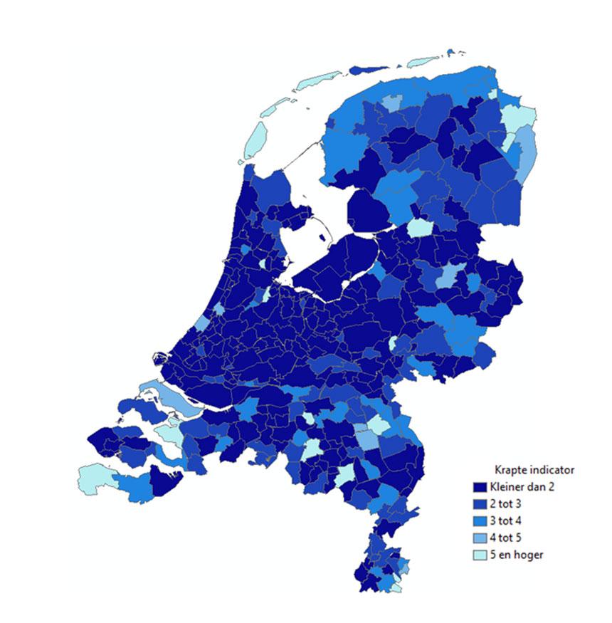 krapte indicator , woningnood in Nederland