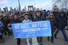 Protest tegen golf van antisemitisch geweld in New York