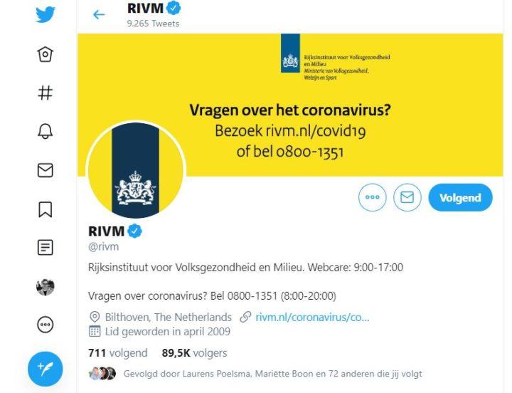 RIVM Twitter coronavirus