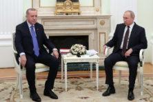 Erdogan en Poetin recht tegenover elkaar over Idlib