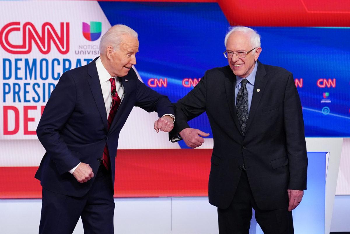 Joe Biden en Bernie Sanders