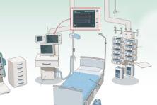 De mensen en machines op de intensive care