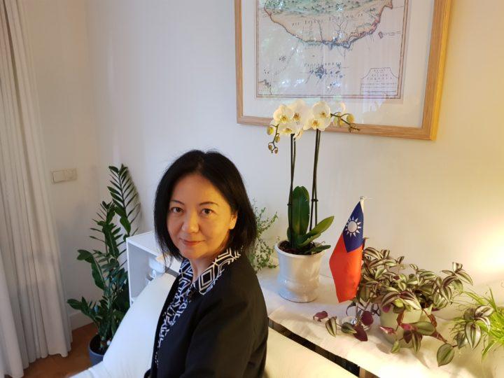 Chen Hsin Hsin , vertegenwoordiger van Taiwan in Den Haag