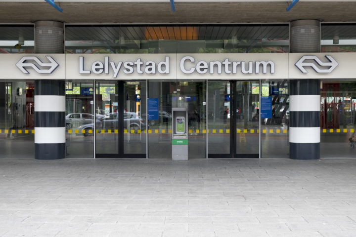 NS trein station Lelystad Centrum