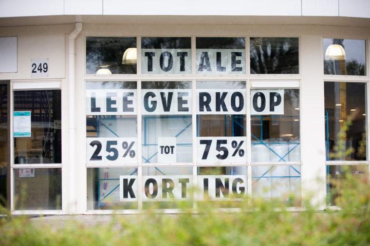 Totale leegverkoop, steeds meer winkeliers overleven de coronacrisis niet. Foto: Harold Versteeg/ANP