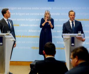 De persconferentie van 13 oktober met Mark Rutte en Hugo de Jonge. Foto: ANP