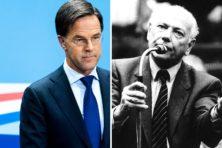 Mark Rutte gaat steeds meer op Joop den Uyl lijken