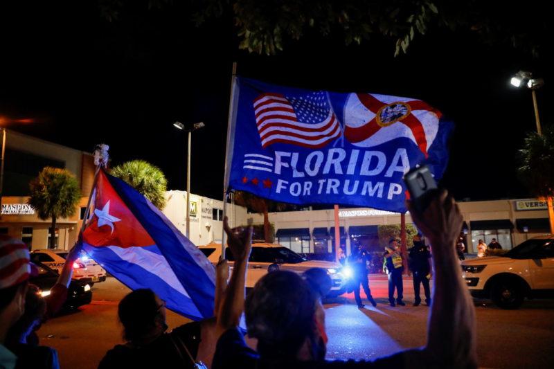 Aanhangers van president Donald Trump in Florida. Foto: ANP
