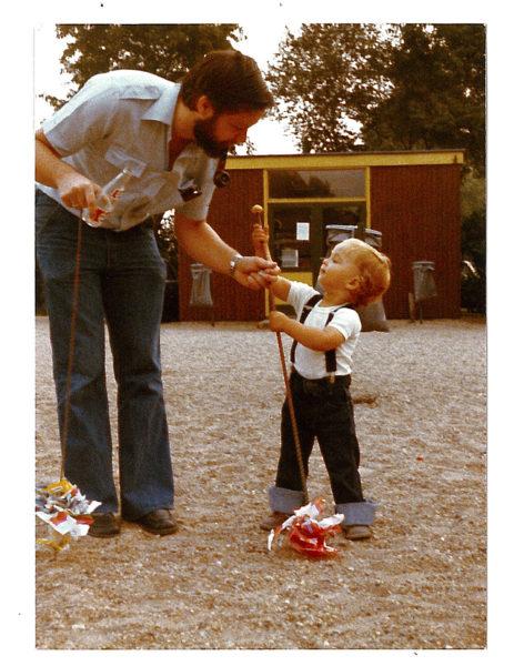 Cees en zoon Tim op De Leemkule