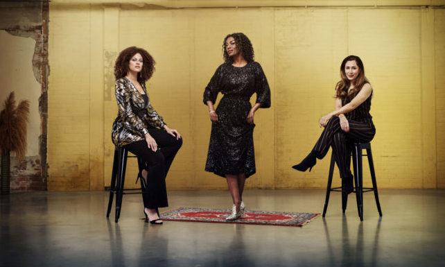Vanaf links: Lisette Wellens, Giovanca Ostiana en Fidan Ekiz. Foto: Mark Engelen