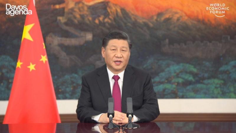 Xi Jinping spreekt tijdens top Davos