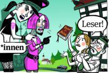 Hoe drammende feministen de Duitse taal onder vuur nemen
