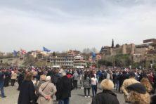 Van eenheid is weinig sprake op de Georgische Dag van de Eenheid